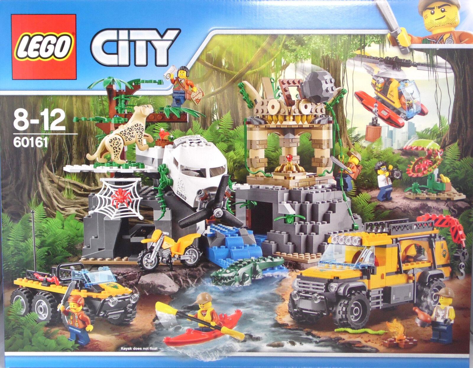 Lego 60161 Jungle station de recherche Heli Jeep Amphibiens véhicule Leopard NEUF