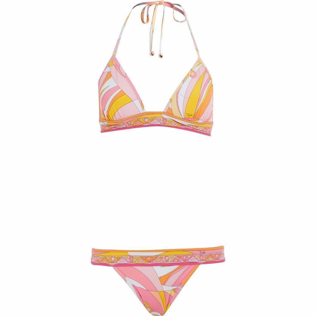 Emilio Pucci Printed  Bikini Set Swimwear UK6 IT38 New
