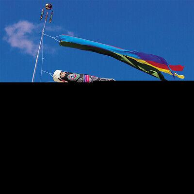 "Japanese 19.5/"" Red Koi Nobori NYLON Carp Wind Sock Fish Kite Flag Made in Japan"