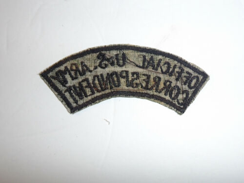 c0127   OD Vietnam US Army Correspondent Tab R10C