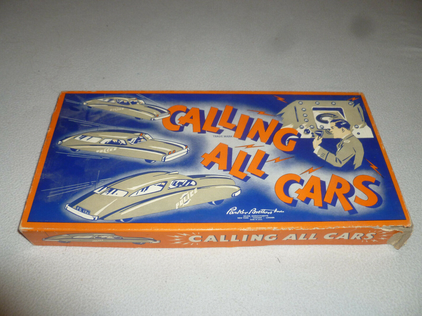VINTAGE BOARD GAME CALLING ALL CARS PARKER BrossoHERS 1938 POLICE NEAR COMPLETE
