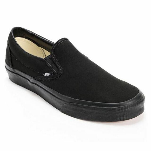 b75332515c3 Vans CLASSIC SLIP ON Mens Womens Black 0EYEBKA Canvas Low Top Skateboard  Shoes