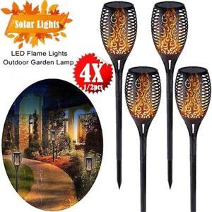 96-LED-Flickering-Flame-Lights-Solar-Torch-Lawn-Garden-Lamp-Outdoor-Waterproof