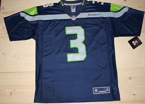 b52ffd02 Details about New NFL Seattle Seahawks Russell Wilson Jersey #3 ~ Mens  Football Size Large - L