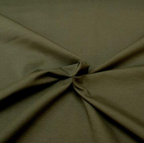 95/% coton 5/% lycra demi mètre Stretch Jersey Tricot-Uni Gris Foncé