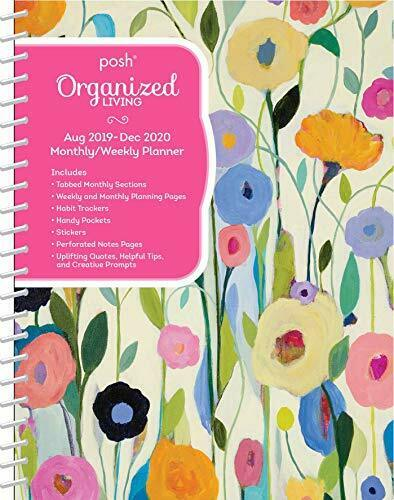 Posh Organized Living Summer/'s Beauty Monthly//Weekly Planning 2019-2020 Cal NEW