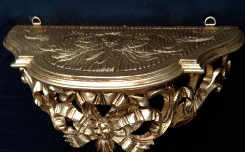 Wall Bracket Mini Mirror Table Baroque Antique Gold Rococo Retro 31x15cm C73