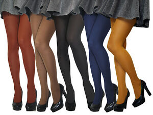 Sizes S-XL Womens LADIES Opaque Microfibre TIGHTS Various Colours 60 denier