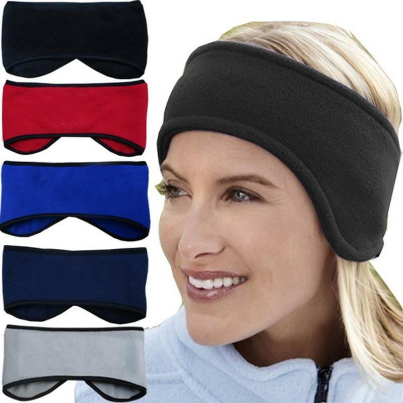Soft Fleece Headband Winter Warm Hat Ear Muff Warmer Ski Snowboard Mens Ladies