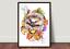 Watercolour Autumn Hedgehog Wildlife,Animal,Art Gift Print wall Card