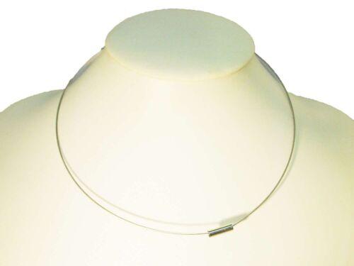 Edelstahlcollier Collier Halsreif Halskette m Magnetverschluss Silber #OM1