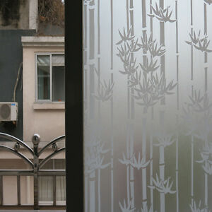 Pvc Frosted Sticker Glass Privacy Shower Screen Windows Cover Self
