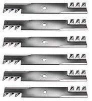 Set Of 6 John Deere 46 Gator Style Mulching Mower Blades M41967 Free Shipping