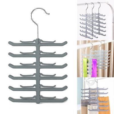 New 2x Rack Closet Organizer Necktie Belt Neck Tie Scarve Non-slip Holder Hanger