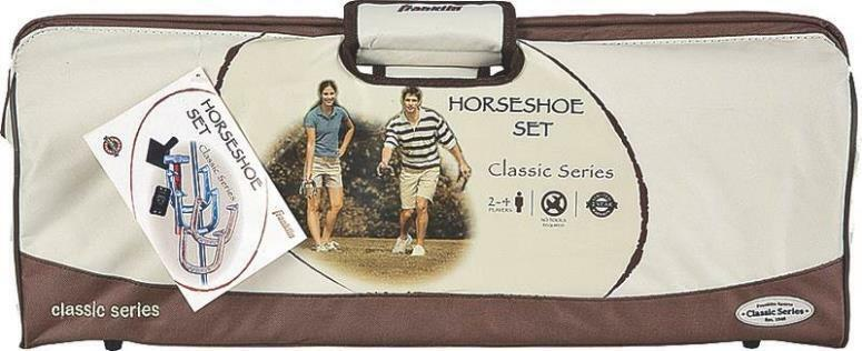 NEW  FRANKLIN SPORTS 50003 CLASSIC SEREIES HORSESHOE GAME SET & CARRY BAG 6829196  all goods are specials
