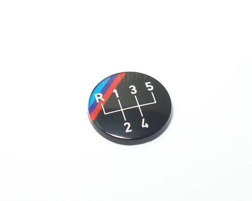 """BMW E30 Emblem /""""rund/"""" für Schaltknauf //////M 5-Gang orig"""