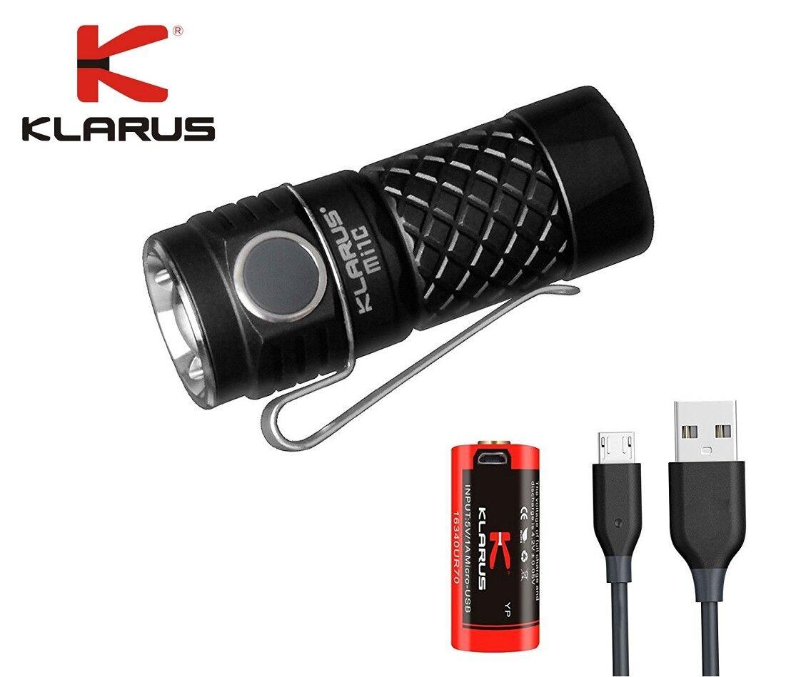 Nuovo Klarus Mi1C Cree XP-L HI V3 600 Lumens LED EDC Flashlight with USB 16340