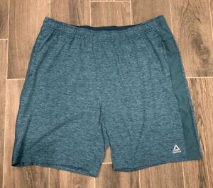 NWT Men/'s Navy//Grey REEBOK Stretchy Basketball Athletic Shorts Size XXL 2XL