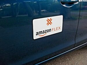 Pair AMAZON FLEX  Magnetic CAR VEHICLE SIGNS  X  FREE - Car signs