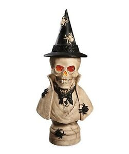 Bethany-Lowe-Halloween-Stonella-Bust-TD5050-Skeleton-Bust-With-Hat-New
