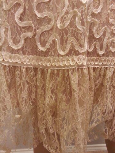 Wong 6 Sue Perlé Soirée Gatsby Robe Nocturne Dentelle Crème Cocktail zddaqnpv