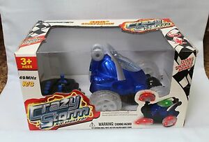 Mindscope Crazy Storm R/C Stunt Car with Remote Blue