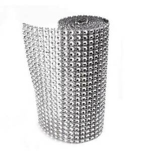 Fashion-Silver-Wedding-Bridal-Wrap-1-Roll-Sparkle-Mesh-Wrap-Ribbon-Bouquet