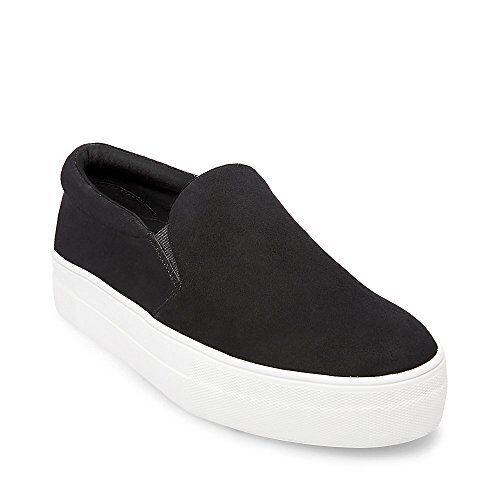 Steve Madden GILLS Womens Gills Sneaker, Black Suede, 5 M US