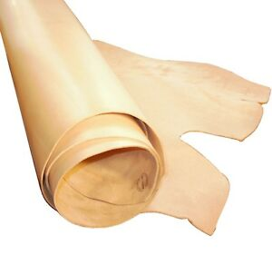 2-5MM-THICK-NATURAL-VEG-TAN-CRAFT-LEATHER-HIDE-B-GRADE-CHOICE-OF-SIZES
