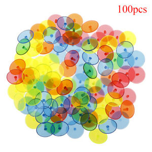 100X-Flat-Round-Plastic-Golf-Ball-Position-Marker-Multicolor-Markers-Mark-FAAU