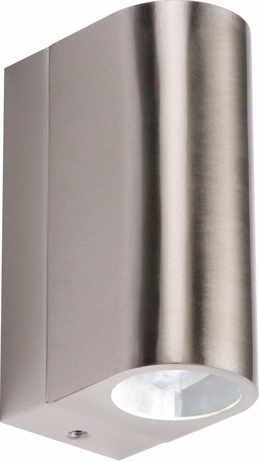 Knightsbridge Ip44 230v 6w Tubular LED Arriba y Abajo Luz Interior o Exterior