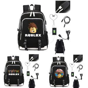 Roblox USB Charging Student School Bags Men's Backpack