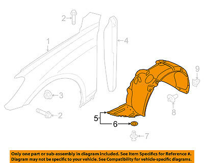 Genuine Hyundai 86812-2V000 Wheel Guard Assembly