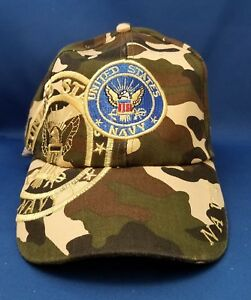 US-NAVY-Military-Baseball-Cap-Embroidered-Adjustable-Camouflage-Hat