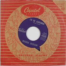 WANDA JACKSON: I'd Be Ashamed '61 Capitol Rockabilly Country 45 VG++
