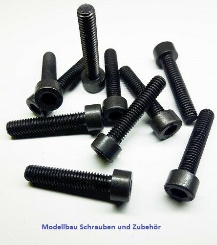 Schwarz Stahl hochfest 10.9 25 Stück Zylinderkopfschraube M6x30mm DIN 912