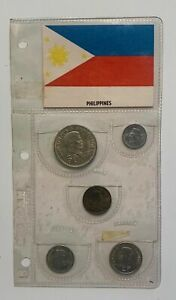 1967 Philippines 5 coins set - original holder