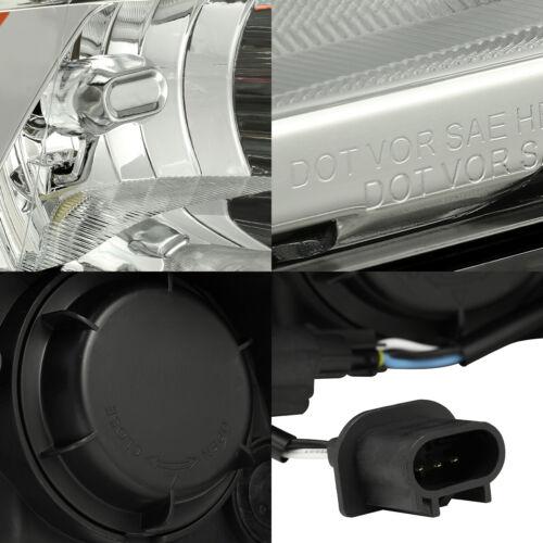 For 2009-2018 Dodge Ram 1500//2500//3500 Chrome Factory Style Headlights Pair