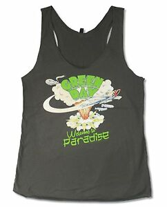 Green-Day-Paradise-Girls-Juniors-Grey-Racer-Back-Tank-Top-New-Official