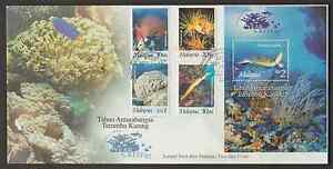 F214Z-MALAYSIA-1997-INTERNATIONAL-YEAR-OF-THE-REEF-MARINE-LIFE-STAMPS-amp-MS-FDC