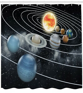 Image Is Loading Galaxy Shower Curtain Solar System Sun Planets Print