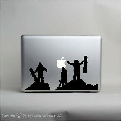 Snowboarding Silhouette laptop decal sticker