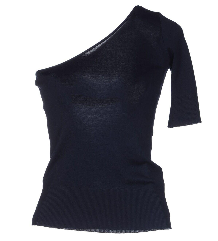 NWOT Ralph Lauren schwarz Label Cotton Knit Top Größe L