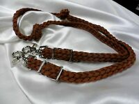 Hand Braided Paracord Pony/mini Horse Loop Reins Brown Free Ship Any Colors