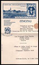 Menu - Isère. Pont de Claix. Vins d'Alsace Boeckel Mittelbergheim. 1956