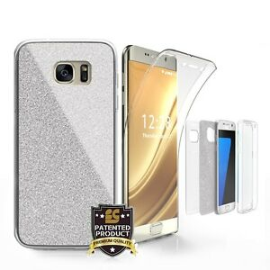 Tri-Max-For-Samsung-Galaxy-S6-Edge-Plus-SM-G928-Full-Body-Wrap-Case-BlingSilver