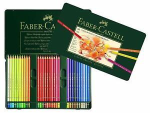 Faber-Castell-Policromaticos-Artistas-039-Lapiz-de-Color-60-Lata-Set