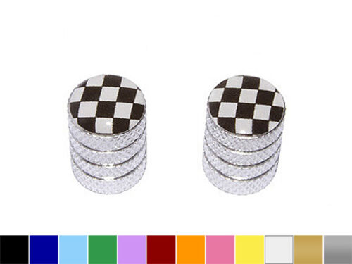 Checkered Flag Nascar Motorcycle Bike Tire Valve Stem Caps - Colors