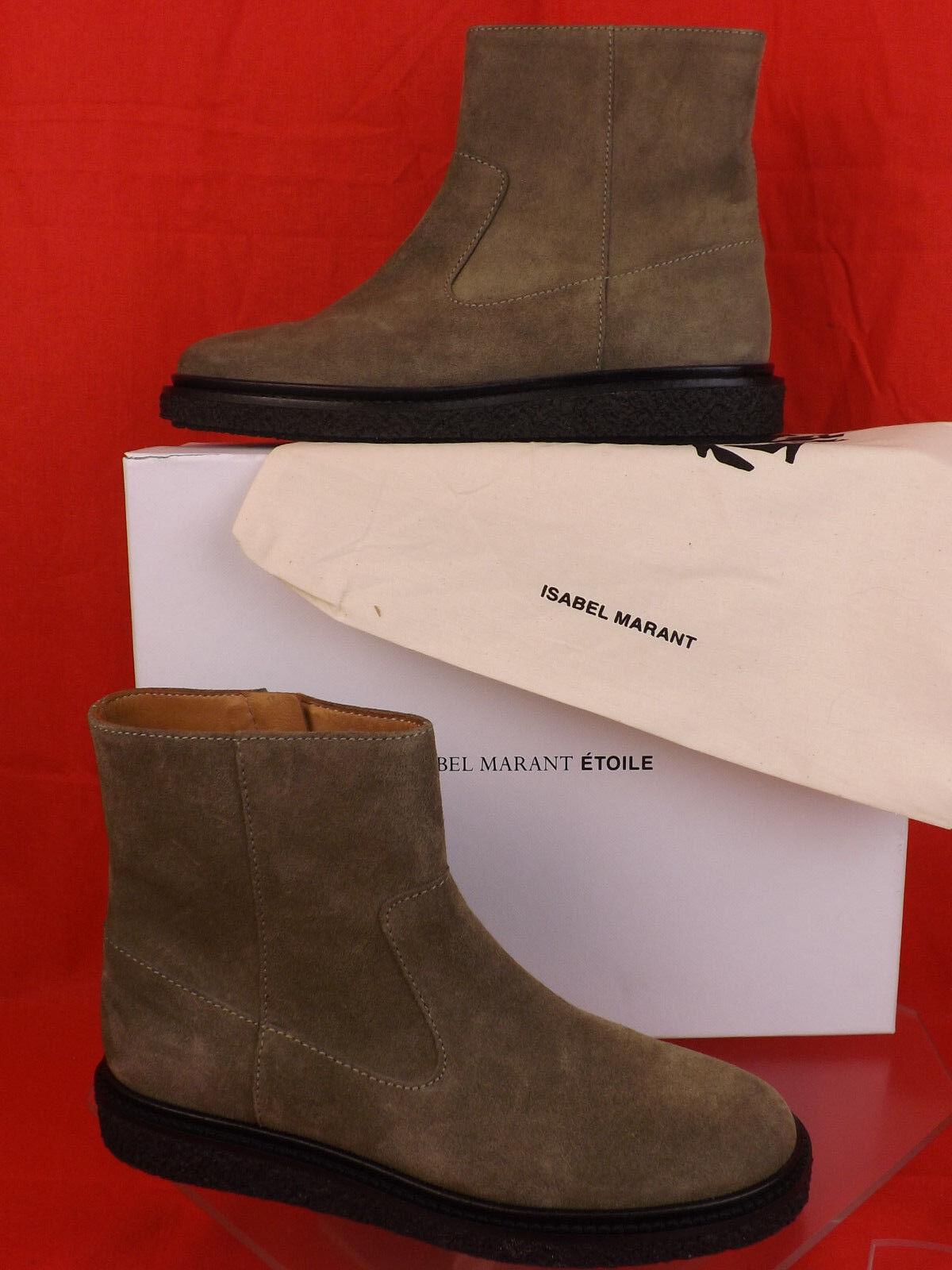Nuevo Nuevo Nuevo En Caja Isabel Marant Etoile gris Topo Gamuza Connor Cremallera Tobillo botas 38  Envío 100% gratuito