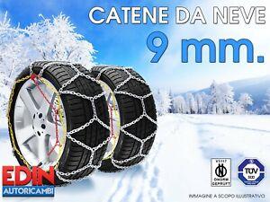 CATENE DA NEVE 185 55 R15 IN ACCIAIO 9mm OMOLOGATE